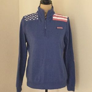 Vineyard Vines American Flag sweatshirt size S
